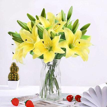 Oriental Charm Lilies Arrangement: Lilies Bouquet