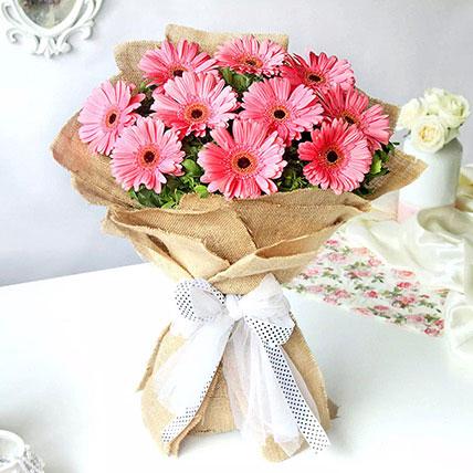 Refreshing Dark Pink Gerberas Bouquet: Gerberas Bouquet