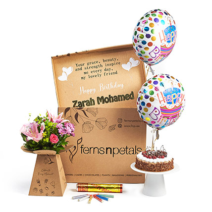 Personalised Birthday Wishes With Florals: New Arrival Combos