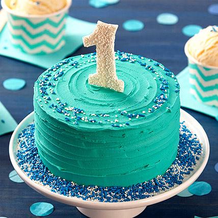 First Birthday Special Chocolate Cake: 1st Birthday Cakes