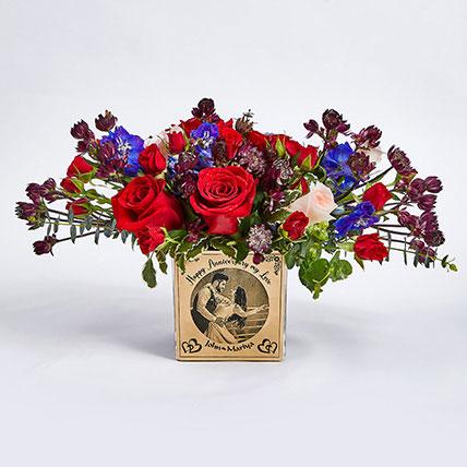 Personalised Vase Anniversary Flowers: Flowers N Personalised Gifts