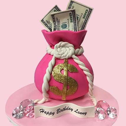 3d Money Bag Cake: Designer Cakes  Delivery
