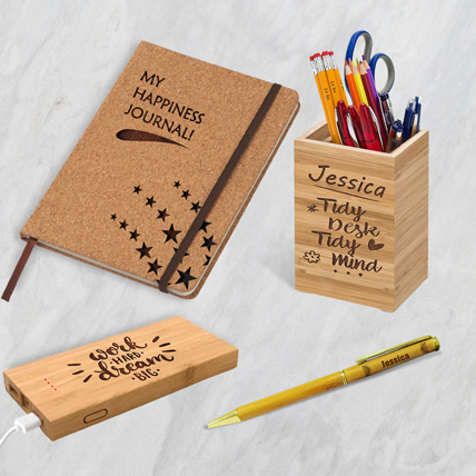 Personalised Power Bank Diary Pen with Pen Holder: Back to School Gifts