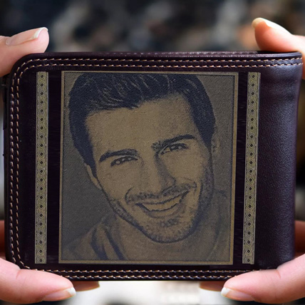 Personalised Mens Wallet With Photo: Friendship Day Personalised Gifts