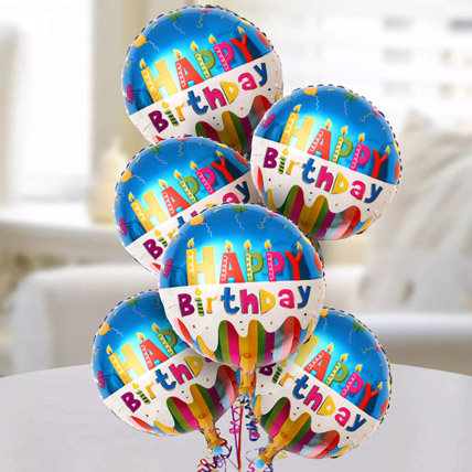 Happy Birthday Foil Balloons:  Gift Delivery