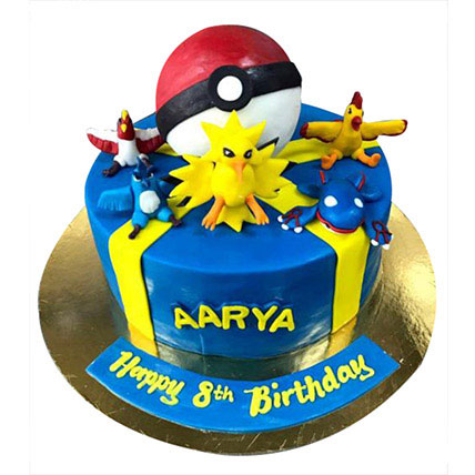 Pokemon At One Place Cake: 3D Cakes