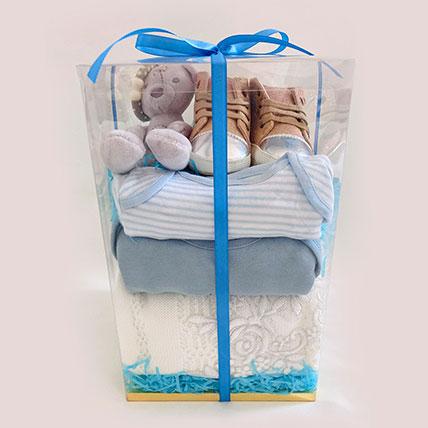 Blue New Born Baby Hamper: Newborn Baby Gifts