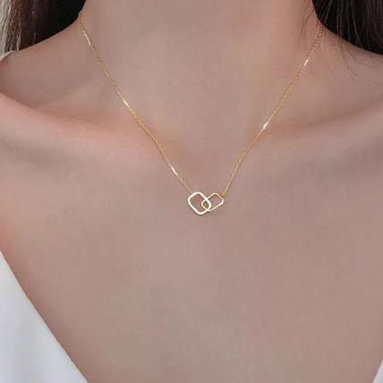 Interlocking Square Necklace: Accessories