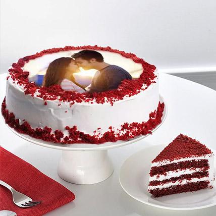 Velvety Photo Cake: Custom Cakes
