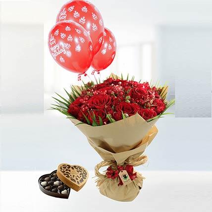 Birthday Wishes Flower Combo: