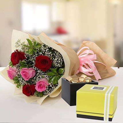 Beautiful Roses & Patchi Chocolates: