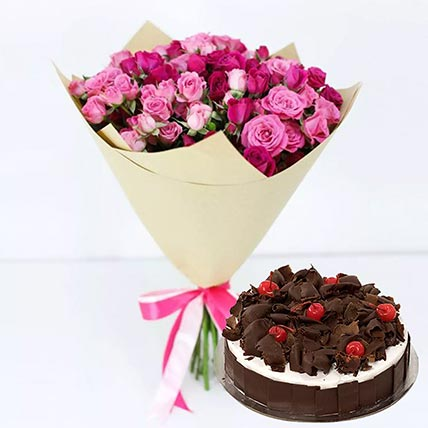 Black Forest & Pink Roses Combo: