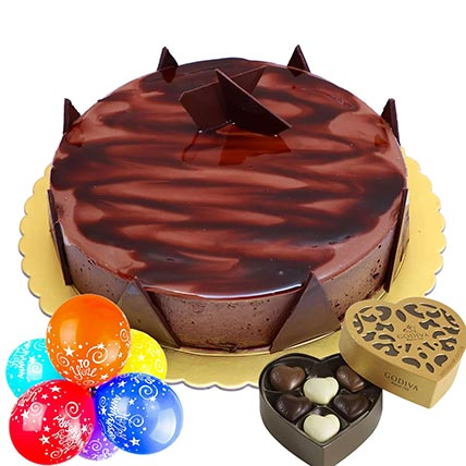 Anniversary Special Ganache Cake Combo: Send Gifts to Qatar