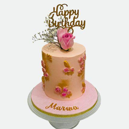 Rose Birthday Cake: Send Cake to Qatar