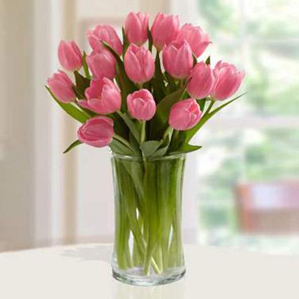 Pink Tulips Arrangement SA: Send Flowers to Saudi Arabia
