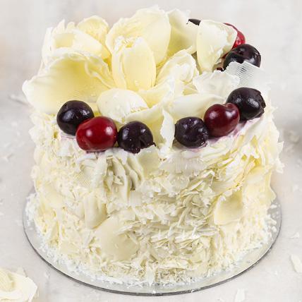 Heavenly White Forest Cake Half Kg: