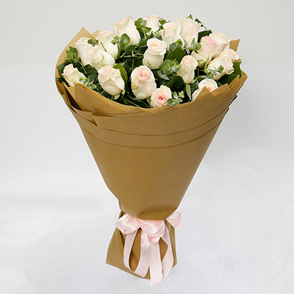 20 Peach Roses Bouquet: