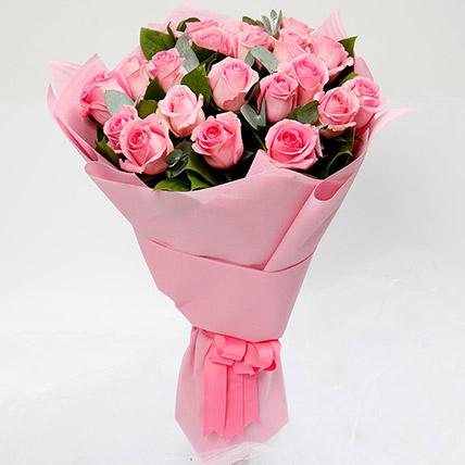 Bouquet Of 20 Pink Roses: Flower Shop in Jeddah