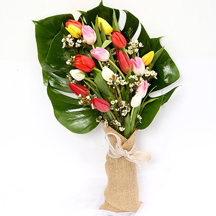 Colourful Bouquet Of Tulips SG: Florist Singapore