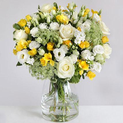 The Lemon Floral Arrangement:  Gifts UK