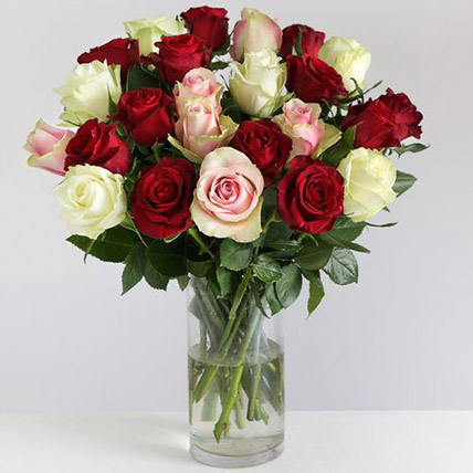 Beautiful Mixed Rose Arrangement: Flowers to UK