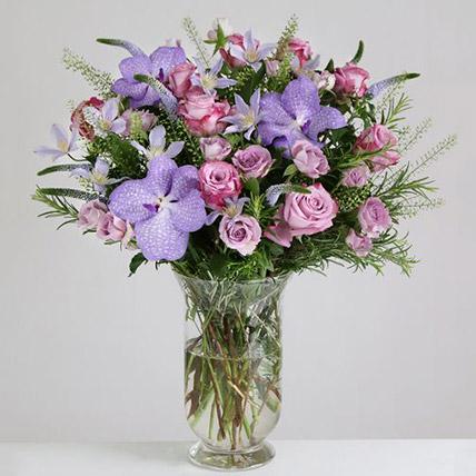 Willd Lilac Vase Arrangement: