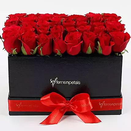 Ravishing 40 Red Roses Box Arrangement