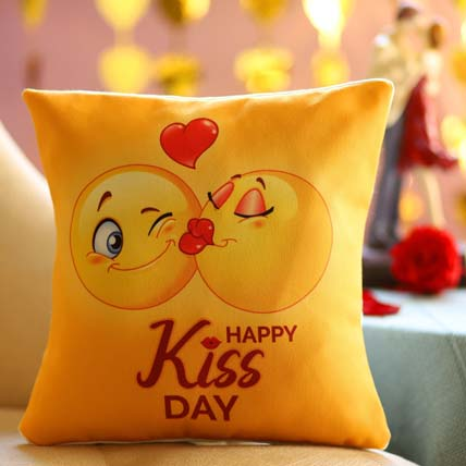 Kiss Day Emoji Cushions Online