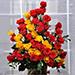 Red Rose Heart Basket