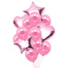 Heart N Star Shaped Pink Balloons