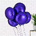 Helium Filled Blue Foil Balloons