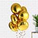Helium Filled Golden Foil Balloons