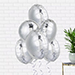 Helium Filled Silver Foil Balloons