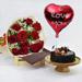 Red Roses & Fudge Cake Love