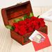 Red Roses Treasure Box Greetings