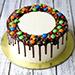 Delicious M&M Cake 4 Portion