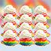Rainbow Cupcakes 12 Pcs