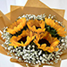 Ravishing Sunflowers Beautifully Tied Bouquet