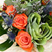 Orange Roses and Alstroemerias Mixed Bouquet SG